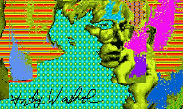 Andy Warhol computer self-portrait