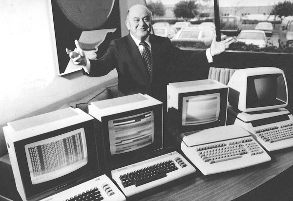 [Commodore International Ltd. President Jack Tremiel in 1984.] *** []